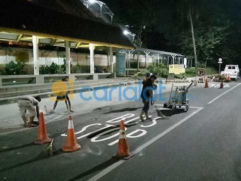 jasa pembuatan garis bus stop
