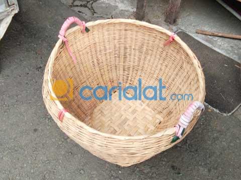 Keranjang Sampah Anyaman Bambu